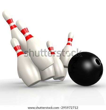 Bowling pin - stock photo