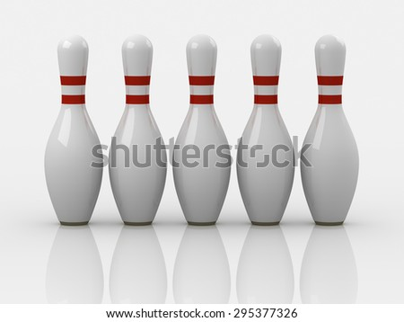 Bowling pin , This is a computer generated and 3d rendered picture. - stock photo