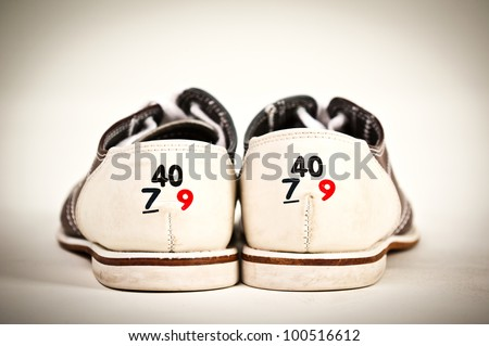 Bowling Shoe, shoe size - stock photo