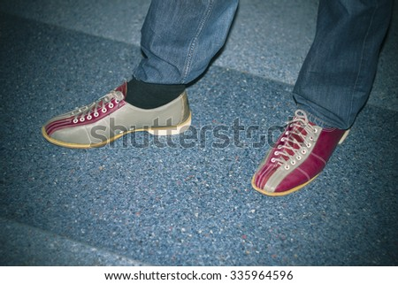 Bowling shoes - stock photo