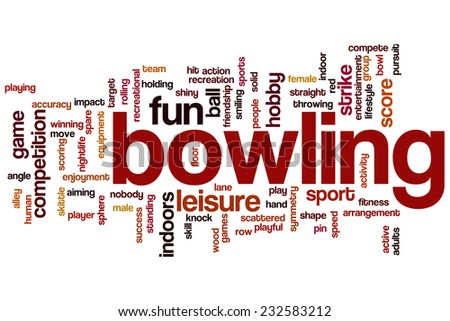 Bowling word cloud concept - stock photo