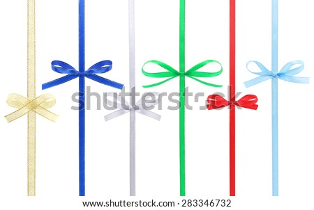Bows collection isolated on a white background. - stock photo