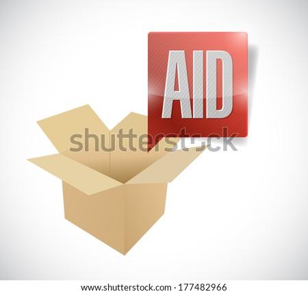 box aid illustration design over a white background - stock photo