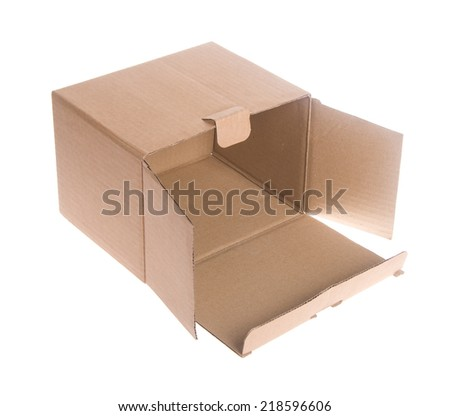 box. cardboard box on the background.
