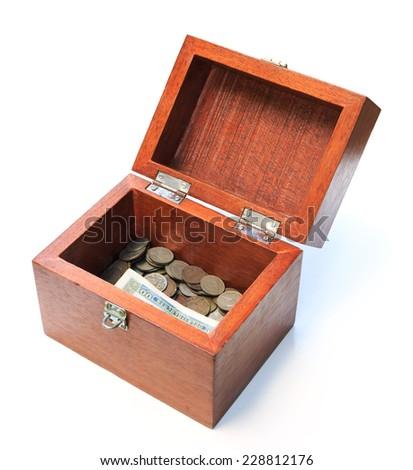 box chest money - stock photo