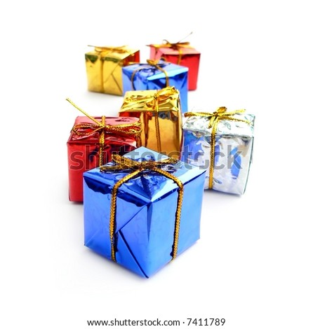 box, color, colorful, gift, paper, present,  ribbon, shining