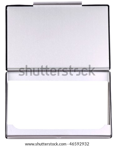 box for business cards on a white background