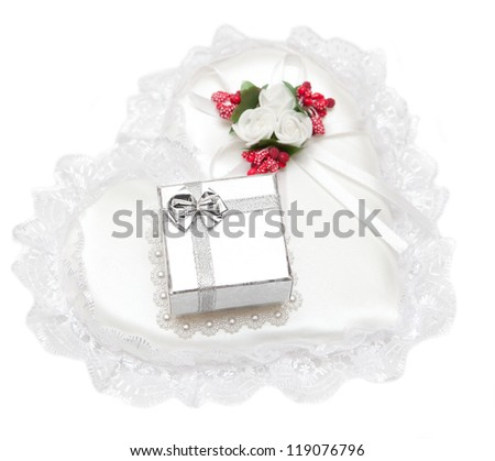 Box for gift - stock photo