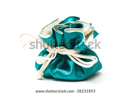 box for jeweller decorations on the white isolated background