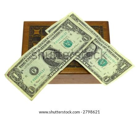 Box for money - stock photo