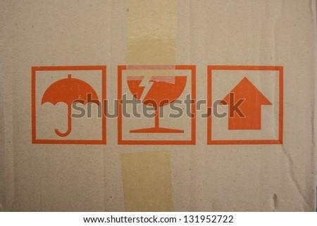 Box has a symbolic impact - stock photo