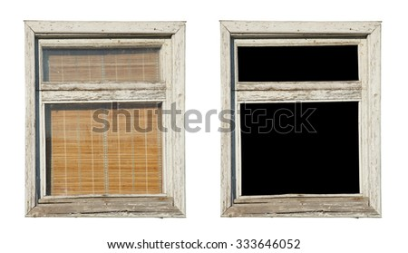 Box in painted wooden frame           - stock photo