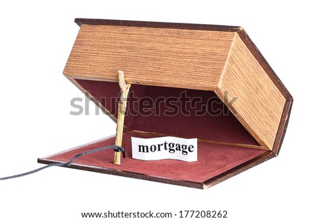 box is installed in the form of the trap. strange proposal - stock photo