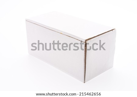 Box isolated on white