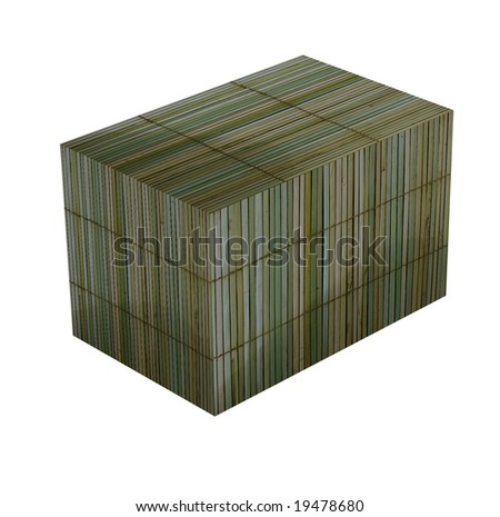 Box of bamboo handmade nice Asian theme