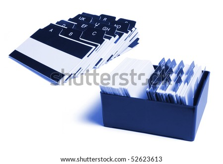 Box of Index File on White Background