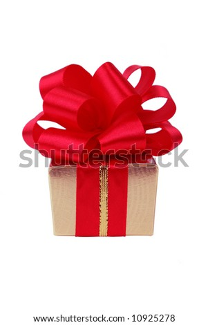 Box of the gift, isolated on a white background