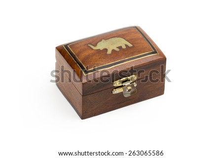 box of wood on the white background