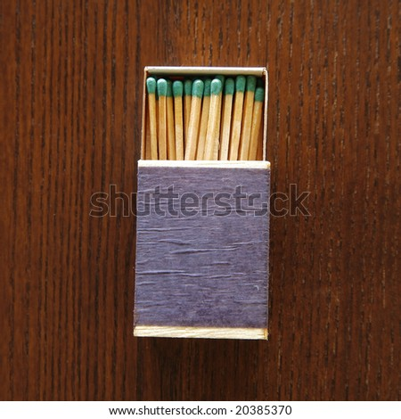 Box of Wooden Matches - stock photo