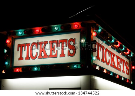 Box office is a place where tickets are sold to the public for admission to an event. - stock photo
