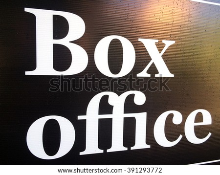 Box Office sign. Show business concept background - stock photo