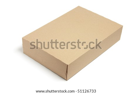 Box on Isolated White Background - stock photo