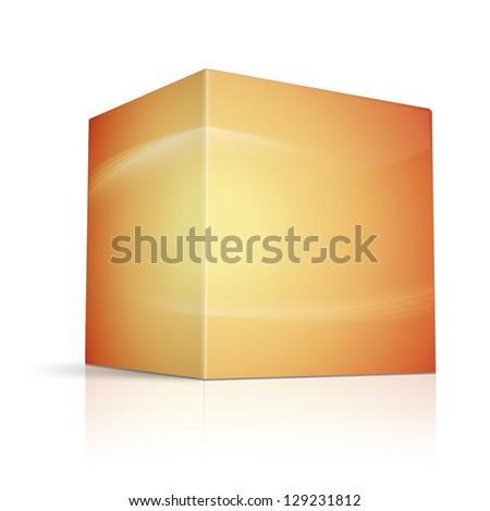 box on white background - stock photo