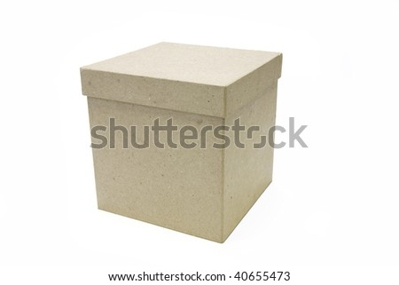 box on white background - stock photo