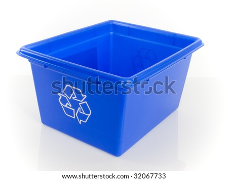 box recycling - stock photo