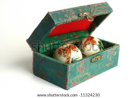 box-relaxation balls - stock photo