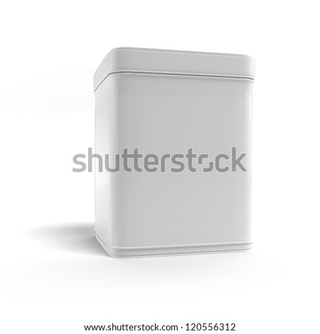 Box tea without label - stock photo