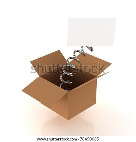 Box whit a surprise - stock photo