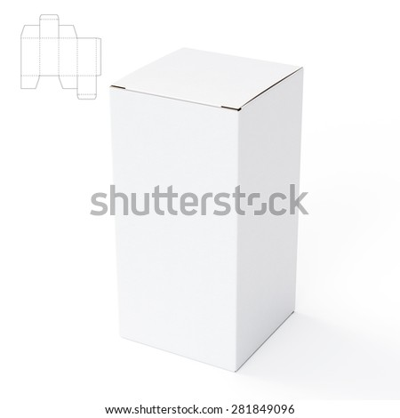 Box with Die Cut Template