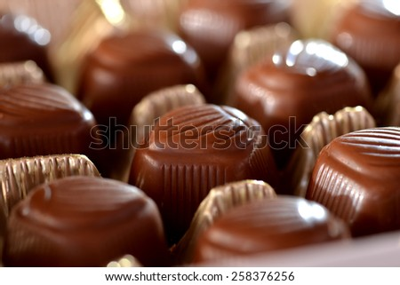 Boxed chocolates - stock photo