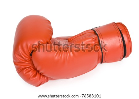 boxer glove isolated on a white background