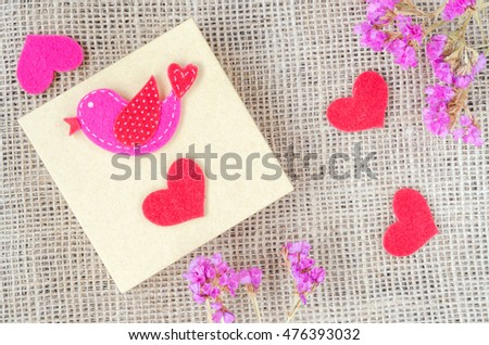 Boxes for gifts with flowers  and paper heart