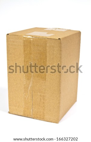 Boxes made ??of corrugated cardboard made ??of recycled paper intended for the packaging of various articles