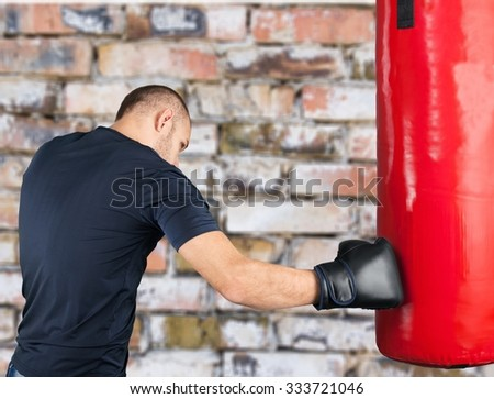 Boxing. - stock photo