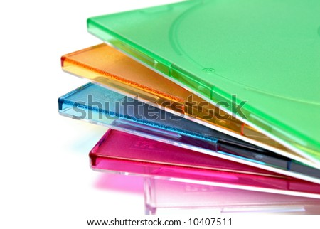Boxing a box for CD of a disk on a white background - stock photo