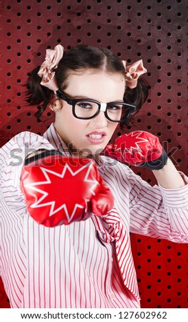 Boxing Business Person Outsmarting The Competition With Swift Calculated Moves In A Depiction Of Smart Business Strategy - stock photo