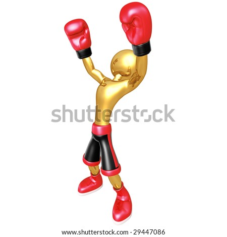 Boxing Champion - stock photo