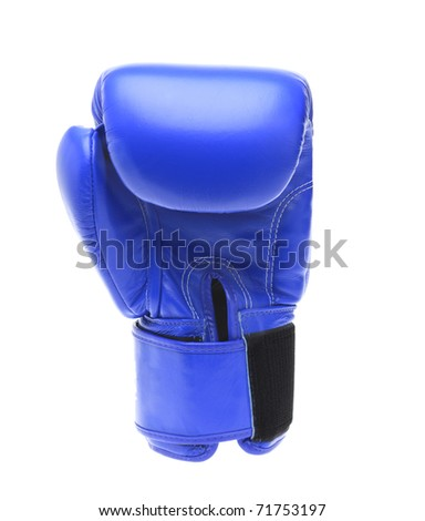 Boxing glove isolated on a white background - stock photo