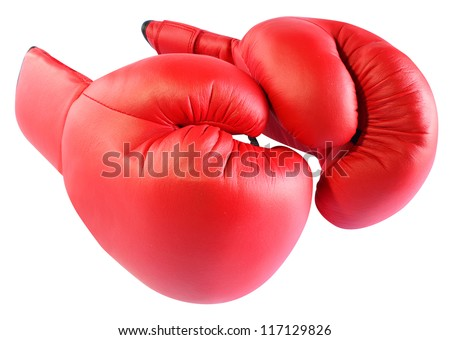 Boxing gloves isolated