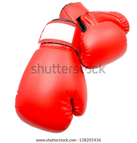 Boxing gloves with Clipping path