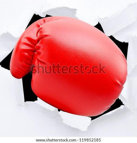 Boxing gloves with white blackground