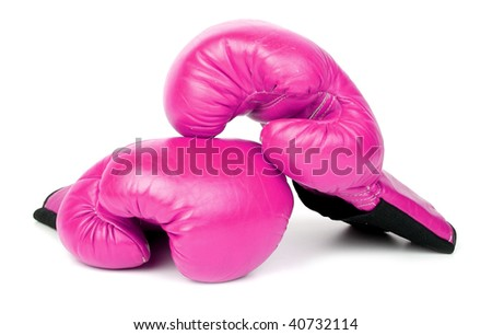 Boxing in pink - stock photo