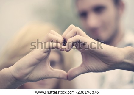 Boy and girl. Love concept - stock photo