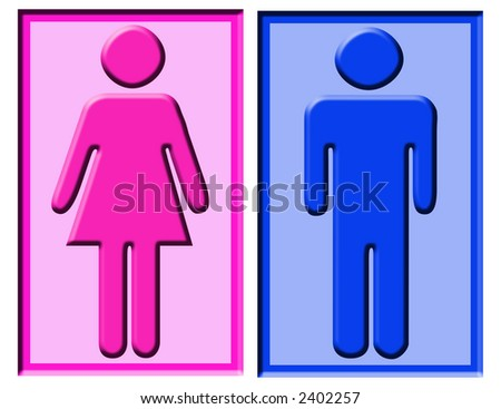 boy and girl symbols usually found on bathroom doors. Girls Bathroom Sign Stock Images  Royalty Free Images   Vectors