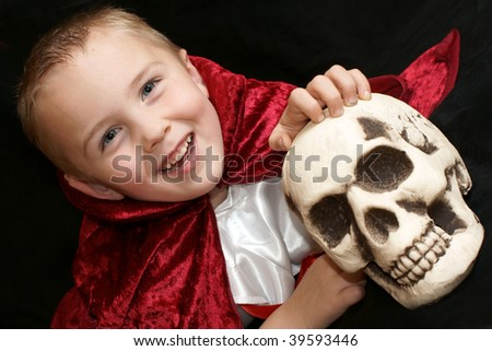 boy and scull - stock photo