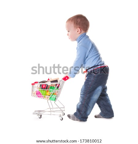 Boy and shopping